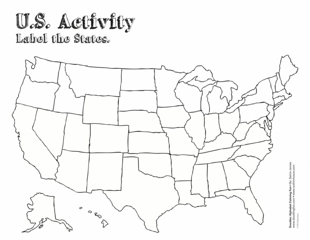 Us Map With State Lines United States Color Map Printable — Little for Us Map With State Lines