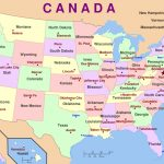 Us Map With States And Capitals And Travel Information | Download Intended For Us Map States And Capitals List