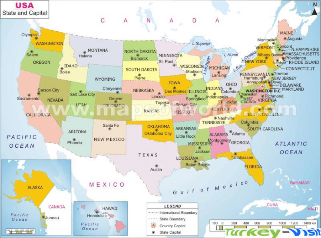 Us Map With States And Capitals And Travel Information | Download with regard to World Map With States And Capitals