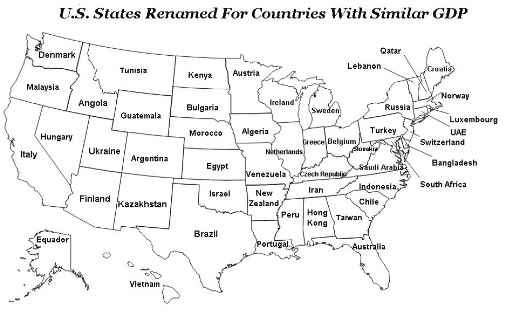 Us Map With States Names with regard to Map With State Names