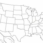 Us Map With States Outlines Geography Blog Outline Maps United Inside State Outline Map