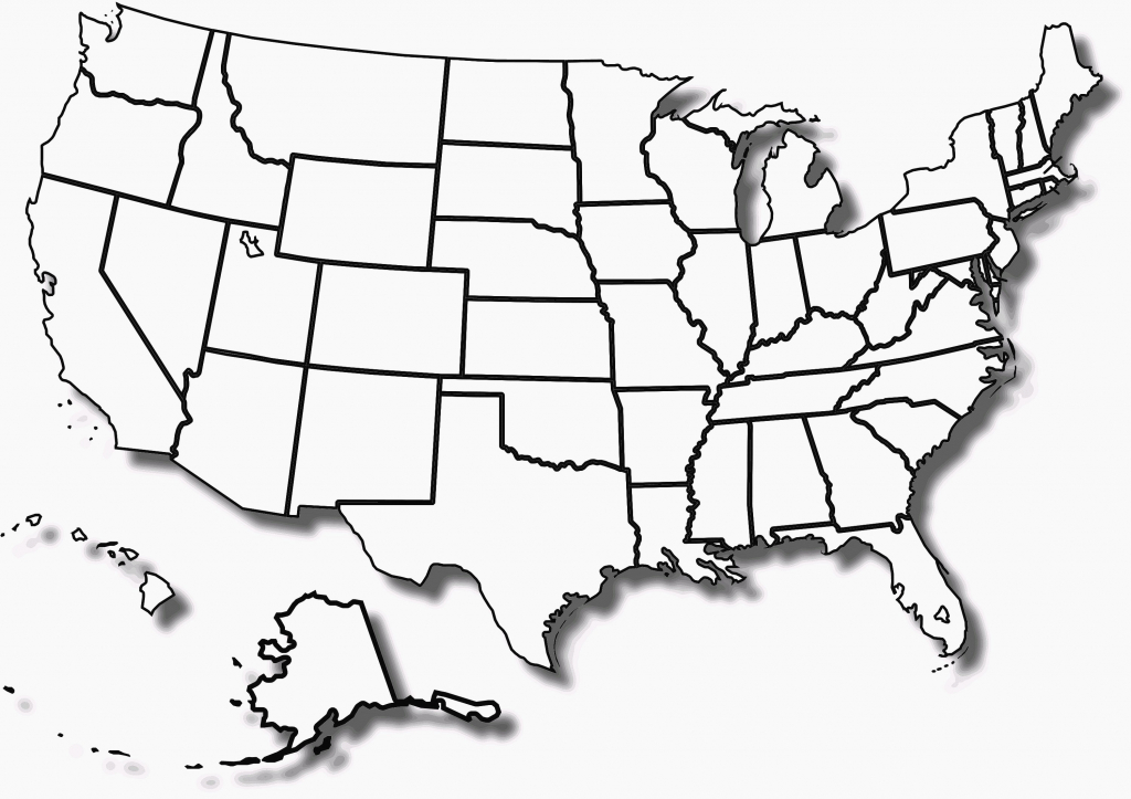 Us Map With States Outlines Geography Blog Outline Maps United throughout Map Of United States Outline Printable