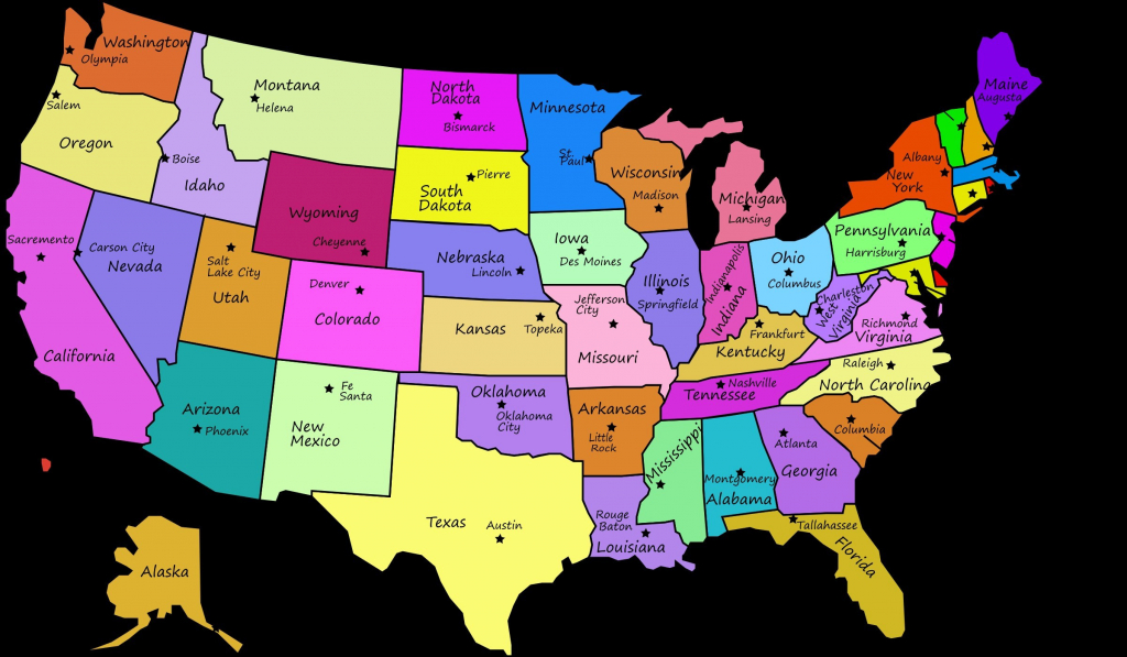 Us Maps States And Capitals Valid Us Map With States And Capitals with regard to Us Map With States Labeled And Capitals