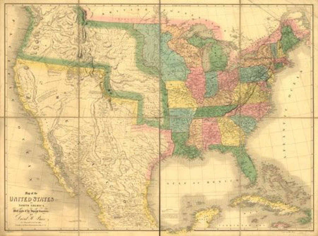 Us-Mexico Map, 1839 | Genealogy & Family History | Pinterest | Map intended for Mexico And The United States Map