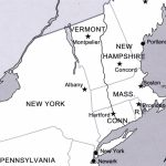 Us Northeast Region Blank Map Us State Capitals Northeast Region Intended For Northeast States And Capitals Map