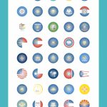 Us State Flags Icon Pack   52 Flat Icons | Flag & Maps | Pinterest With Google Maps State Icons