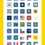 Us State Flags Icon Pack   52 Flat Icons | Flag & Maps | Pinterest Within Google Maps State Icons