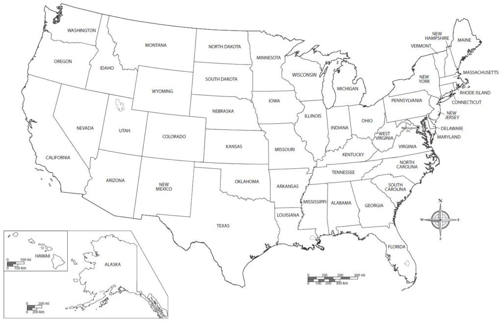 Us State Map Blanck For Kids Us State Map Blank Pdf Throughout pertaining to Blank State Map Pdf
