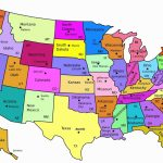 Us State Map With Major Cities Usa State Abbreviations Map State Regarding Usa Map With States Capitals And Abbreviations