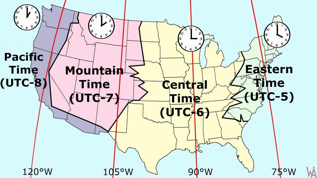 Us State Map With Time Zones Us Time Zone Map Images Ustimezones New with State Time Zone Map