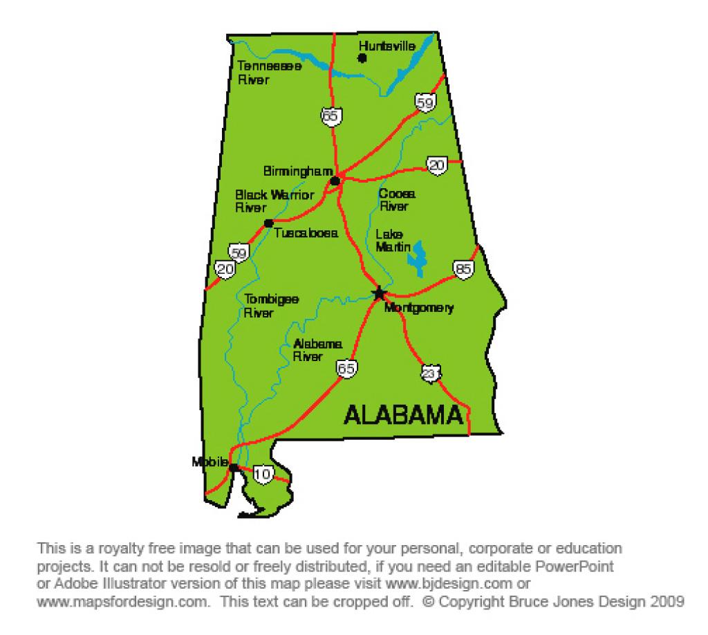 Us State Printable Maps Alabama To Georgia, Royalty Free, Clip Art, Jpg inside Alabama State Map Printable