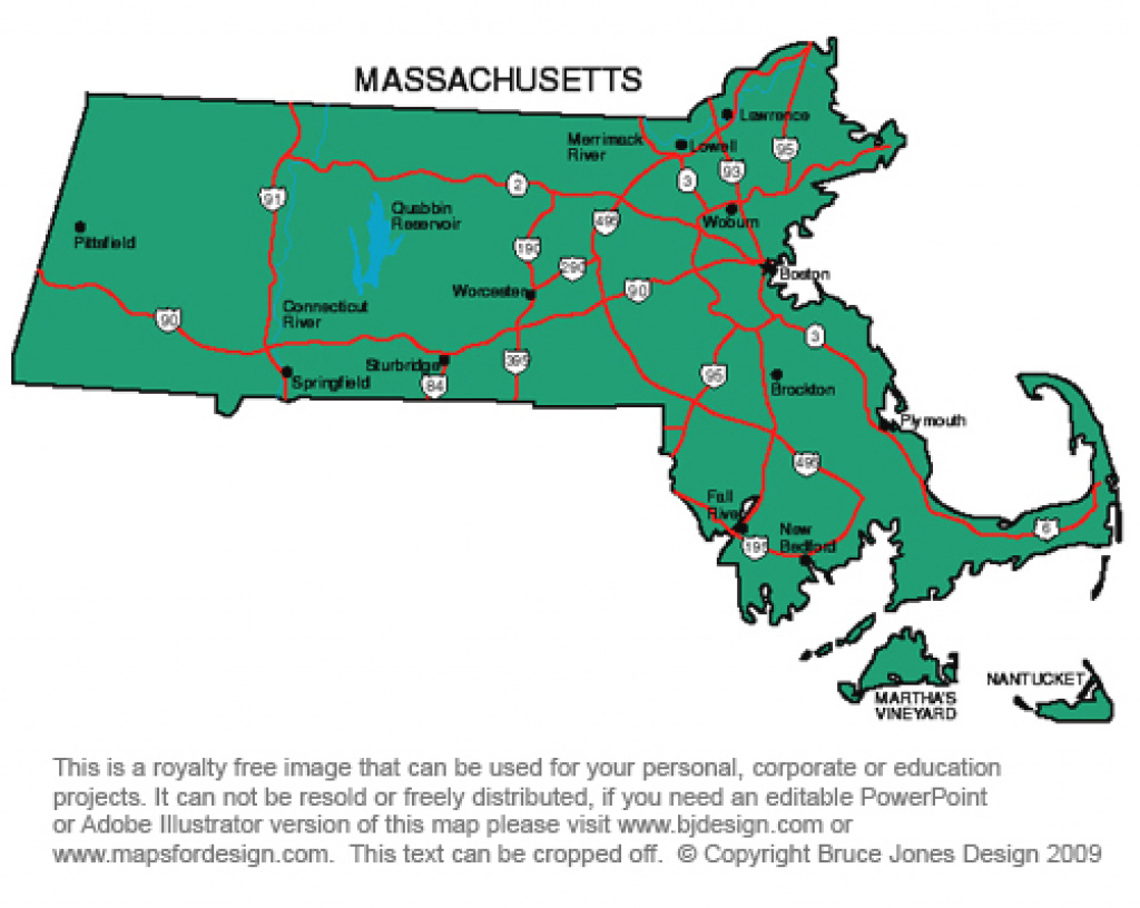 Us State Printable Maps, Massachusetts To New Jersey, Royalty Free regarding Map Of New England States And Their Capitals