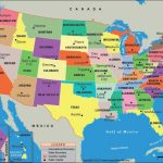 Us States And Capitals Map Inside Usa Map With States And Cities