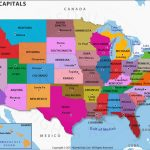 Us States And Capitals Map, United States Map With Capitals Intended For Map Of New England States And Their Capitals