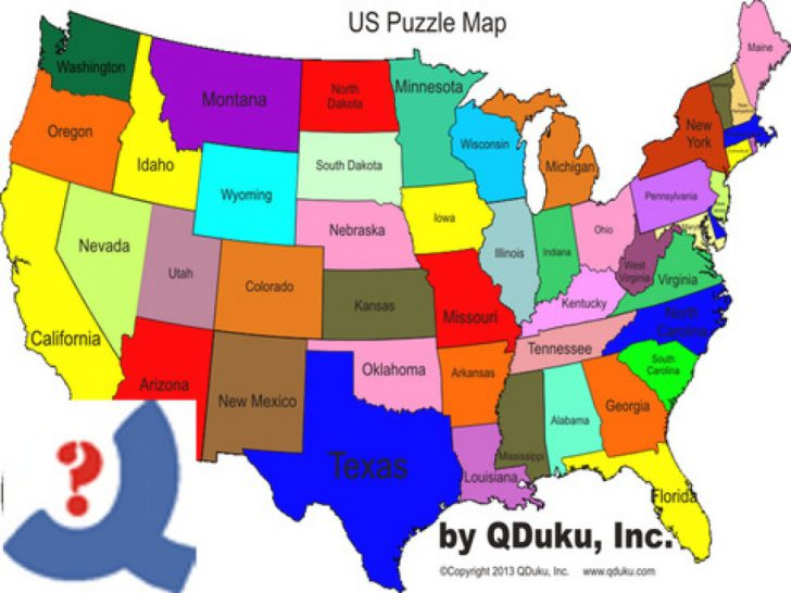 Us States Map Game