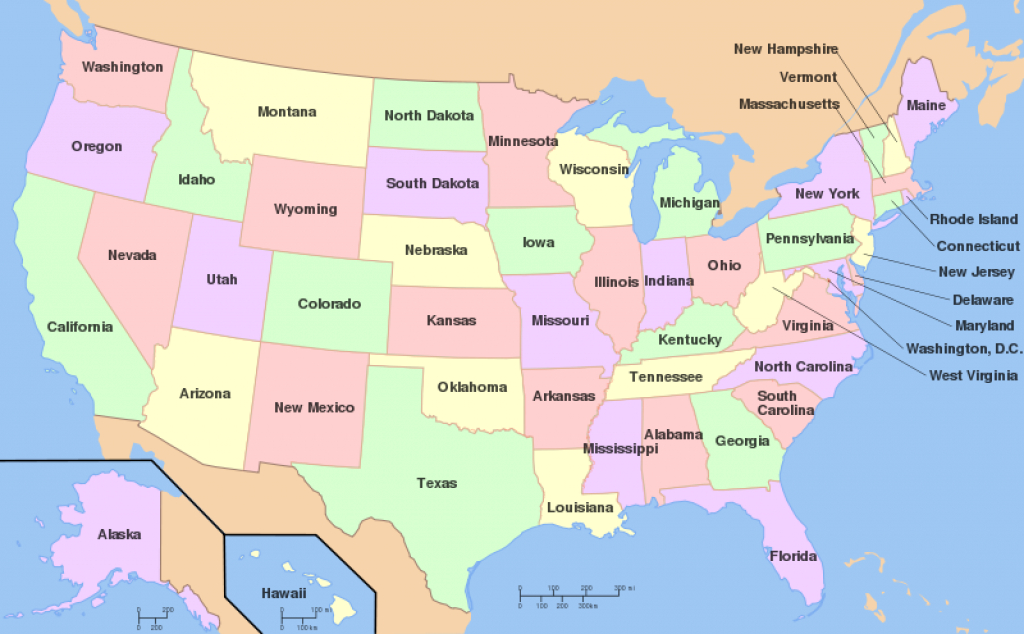 Us States   Maps4Kids in Picture Of Us Map With States