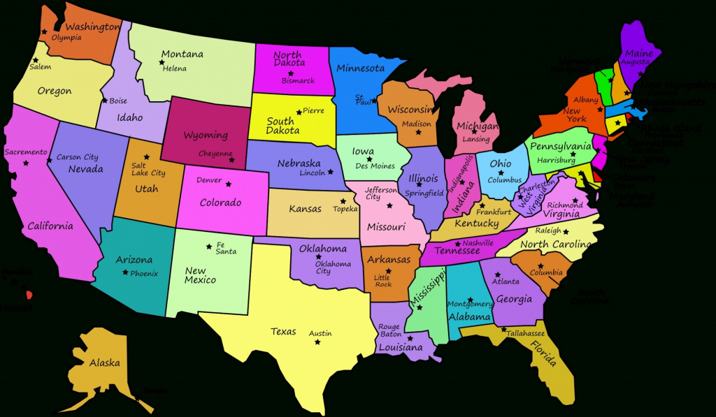 Us States With Capitals Map Us Map States With Capitals Maps Of The in United States Of America Map With Capitals