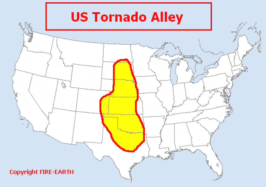 Us Ta Feww Inspirational Map Of Tornado Alley - Collection Of Map in Tornado Alley States Map