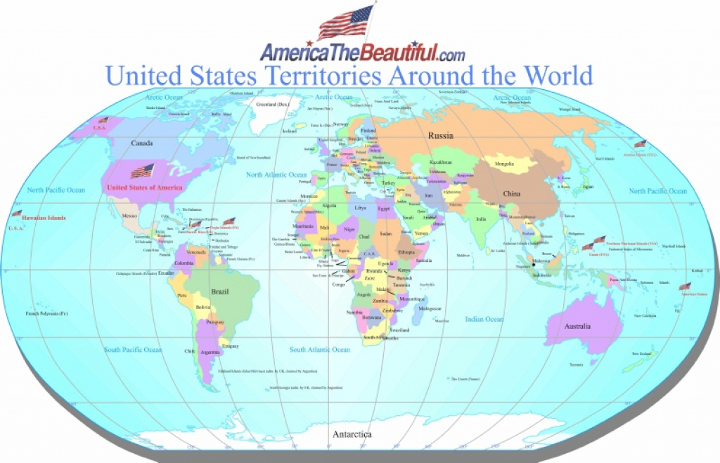 Us Territories with Map Of The World With Us States