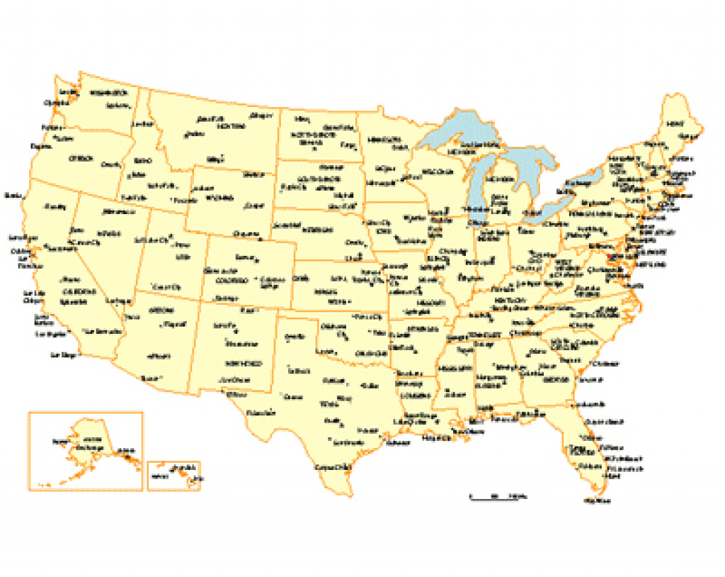 Usa 50 State, Major City And Capitals Map - Powerpoint Maps throughout Map Of 50 States And Major Cities