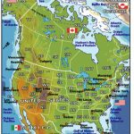 Usa And Canada Physical Features Map   28 Images   Physical Map Quiz Regarding United States And Canada Physical Map