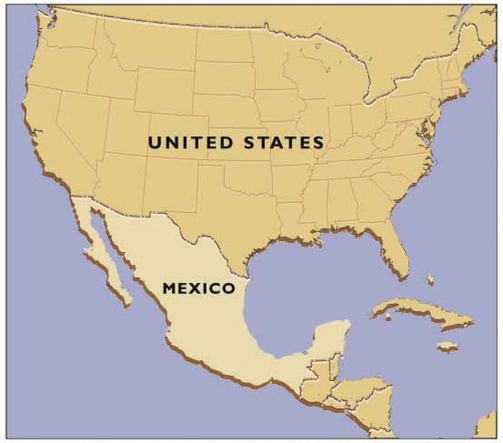 Usa And Mexico Map And Travel Information | Download Free Usa And with Mexico And The United States Map