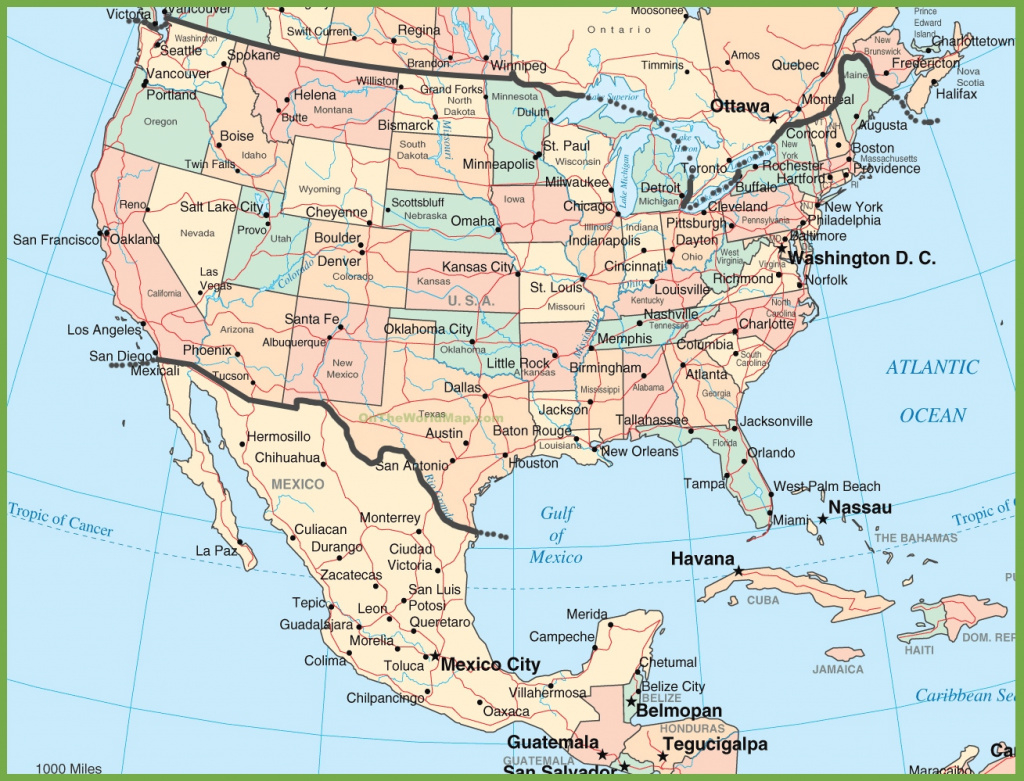 Usa And Mexico Map with regard to Mexico And The United States Map