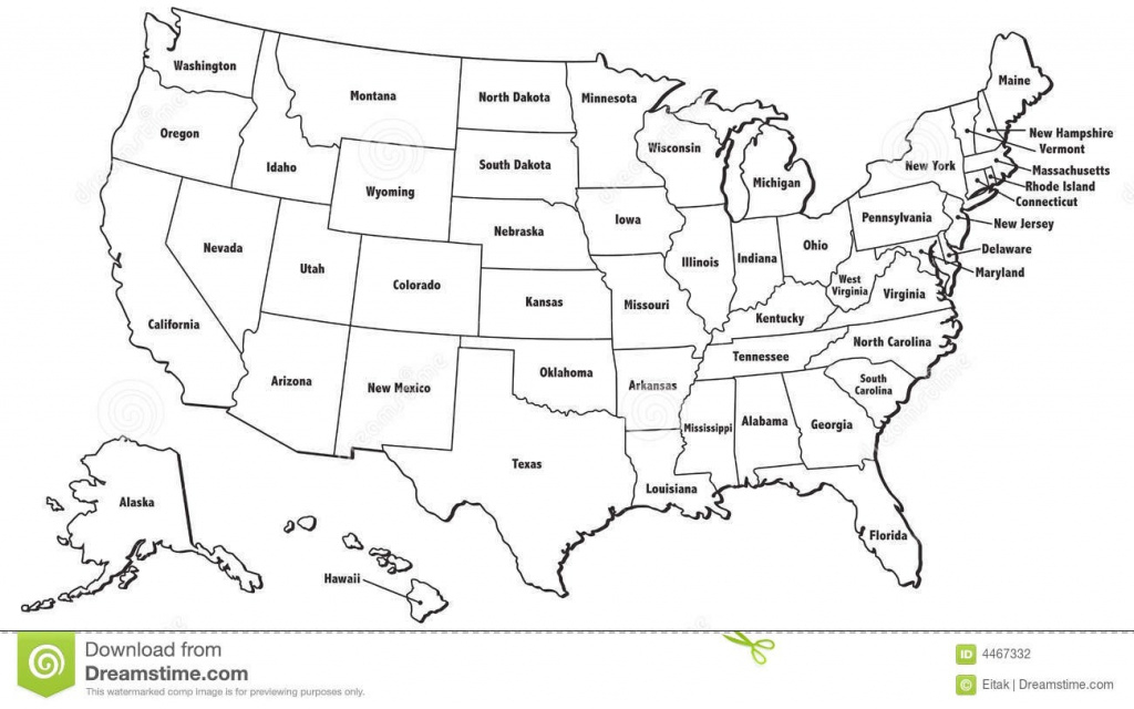 Usa Blank Printable Map With State Names Royalty Free Jpg For United for Map Of United States Outline Printable