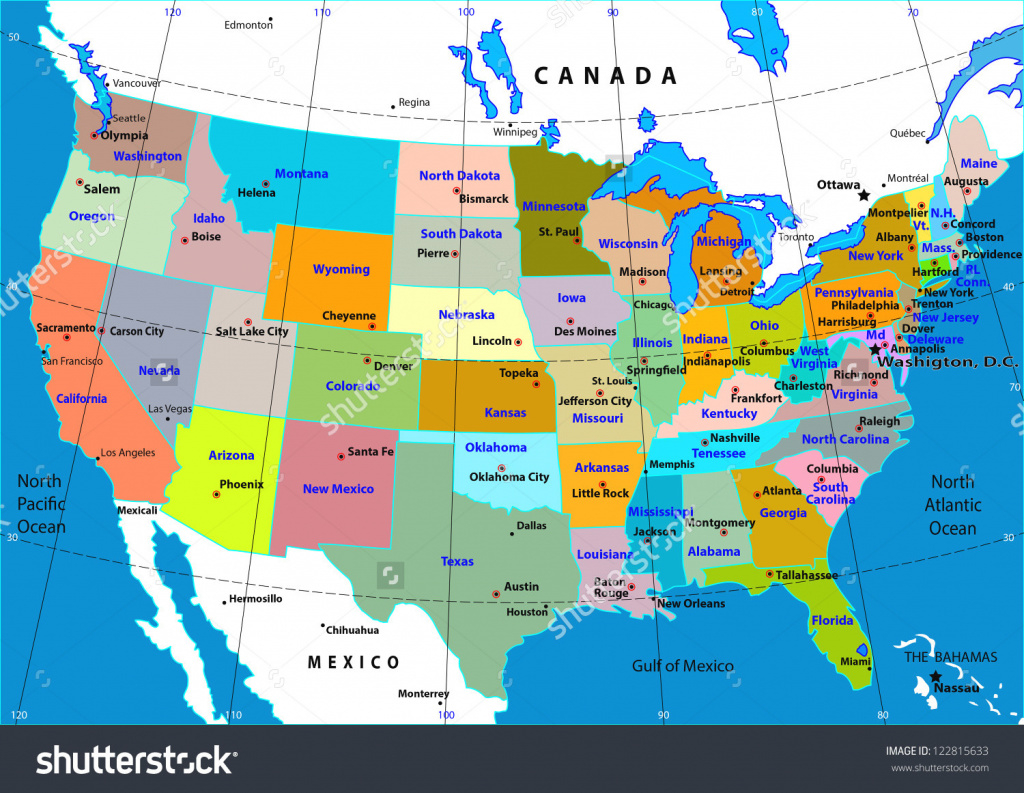 Usa Canada Map With States And Cities World Maps Best Of New Of Maps with regard to World Map With States And Capitals