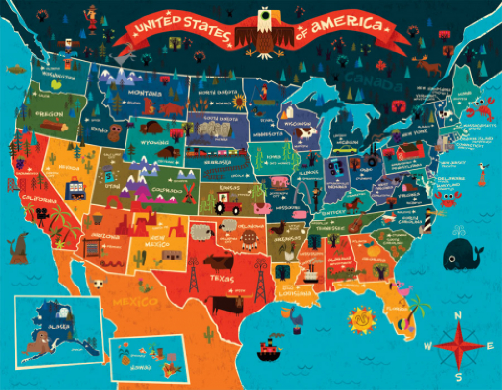 Usa Map For Kids | De Wereld | Pinterest | Map, Infographic And inside State Map For Kids