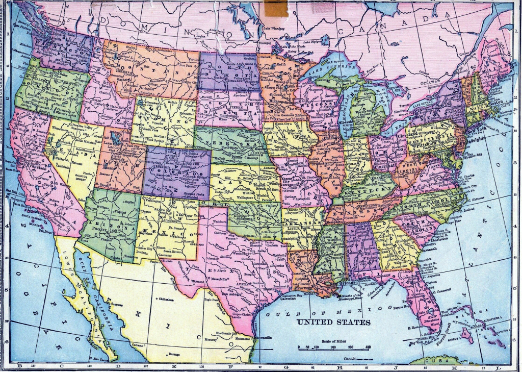 Usa Map States Cities Roads Valid Usa Map Cities And States And pertaining to Usa Map With States And Cities
