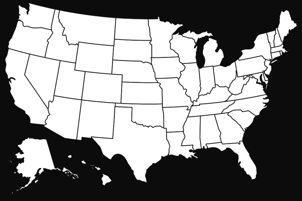 Usa Map Without Names | Free Printable Maps with regard to State Map Without Names