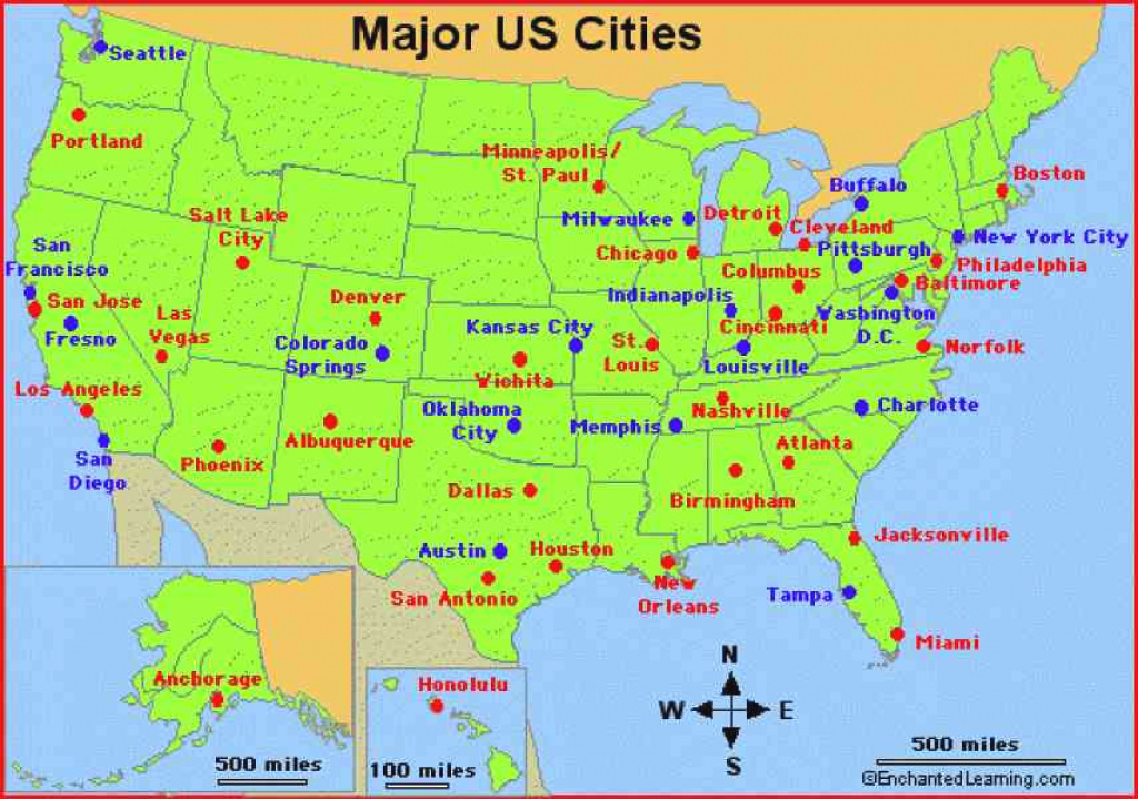 Usa Maps States And Cities And Travel Information | Download Free pertaining to Usa Map With States And Cities
