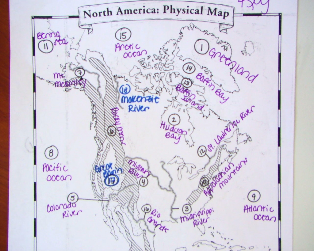 Usa Physical Map Worksheet throughout United States Physical Map Worksheet