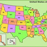 Usa State Abbreviations Map Inside Picture Of Us Map With States