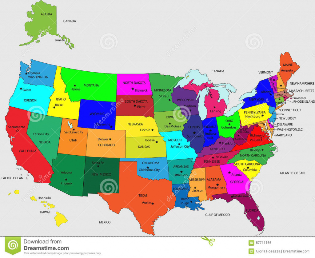 Usa State Map With Names And Travel Information | Download Free Usa in 50 States Map With Names