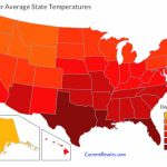 Usa State Temperatures Mapped For Each Season   Current Results Within Weather Heat Map United States