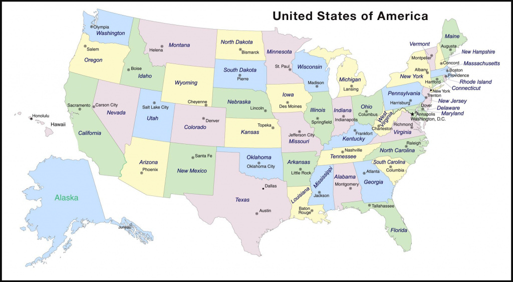 Usa States And Capitals Map At Map Usa States And Capitals - Free throughout World Map With States And Capitals