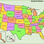 Usa States And Capitals Map Throughout Map Of The United States With Capitols