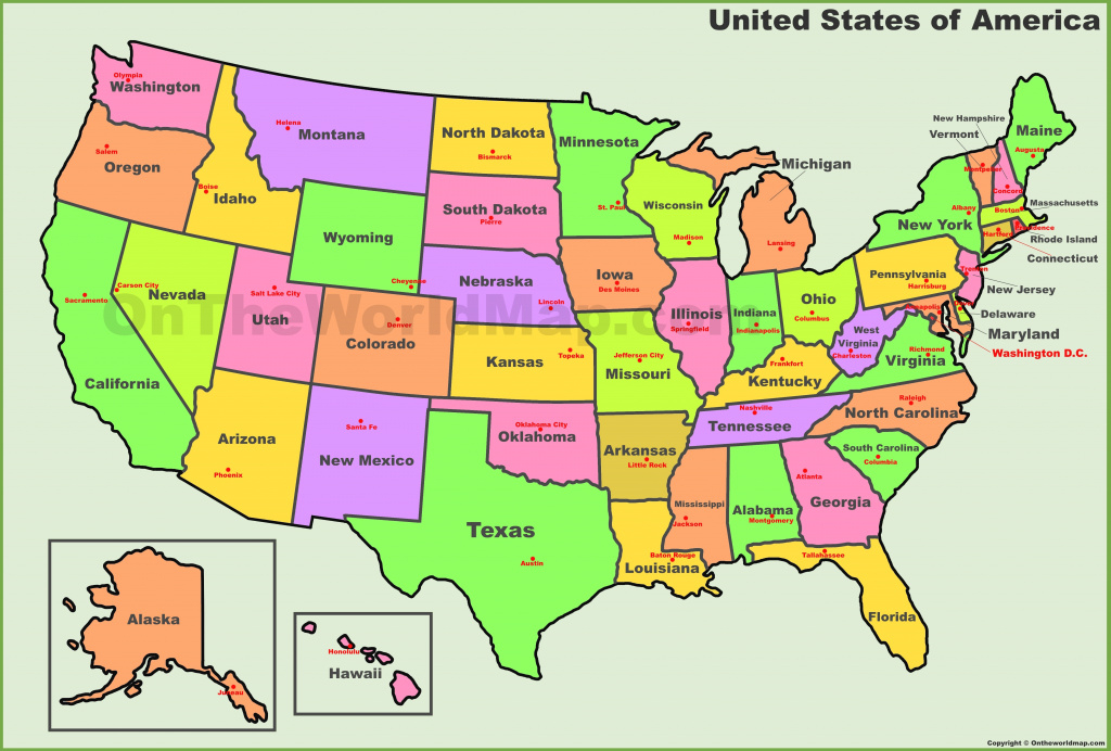 Usa States And Capitals Map with Us Map With State Capitals