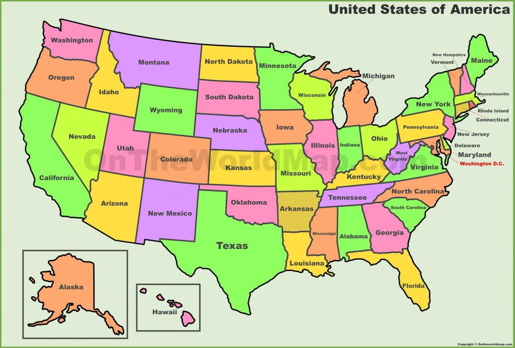Usa States Map | List Of U.s. States intended for Show Me A Picture Of The United States Map