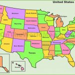 Usa States Map | List Of U.s. States Within Map Of Usa Showing All States