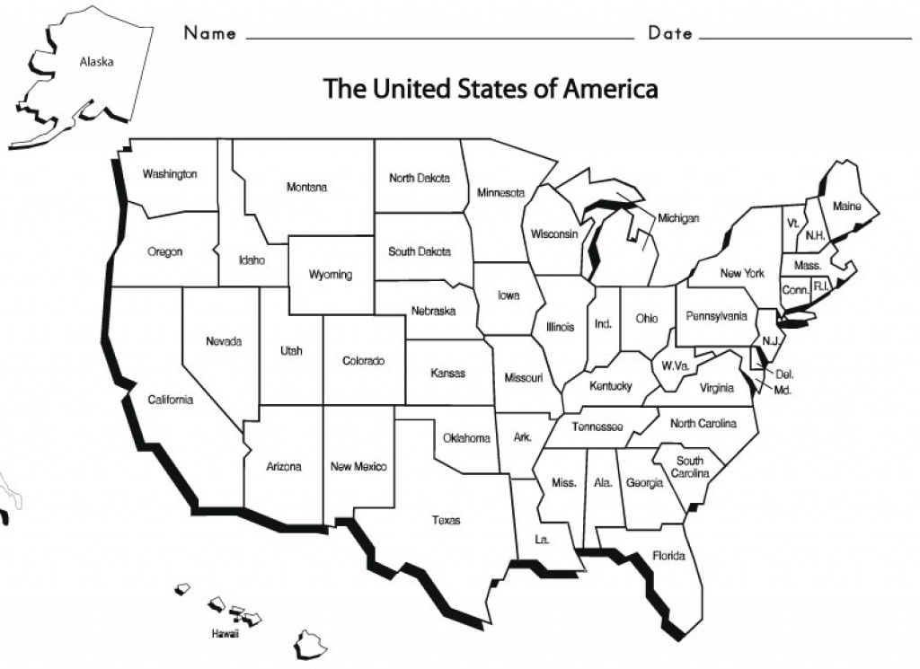 Usa States - Sight Words, Reading, Writing, Spelling & Worksheets throughout 50 States Map Worksheet