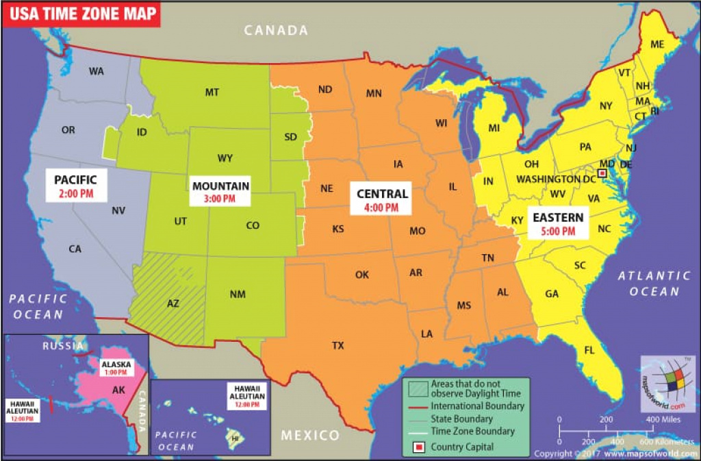 Usa Time Zone Map, Current Local Time In Usa intended for State Time Zone Map