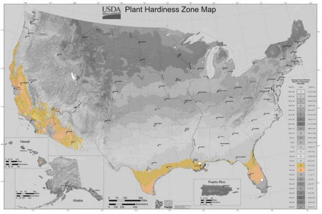Usda Gardening Zone 9 within Map Of Planting Zones In United States