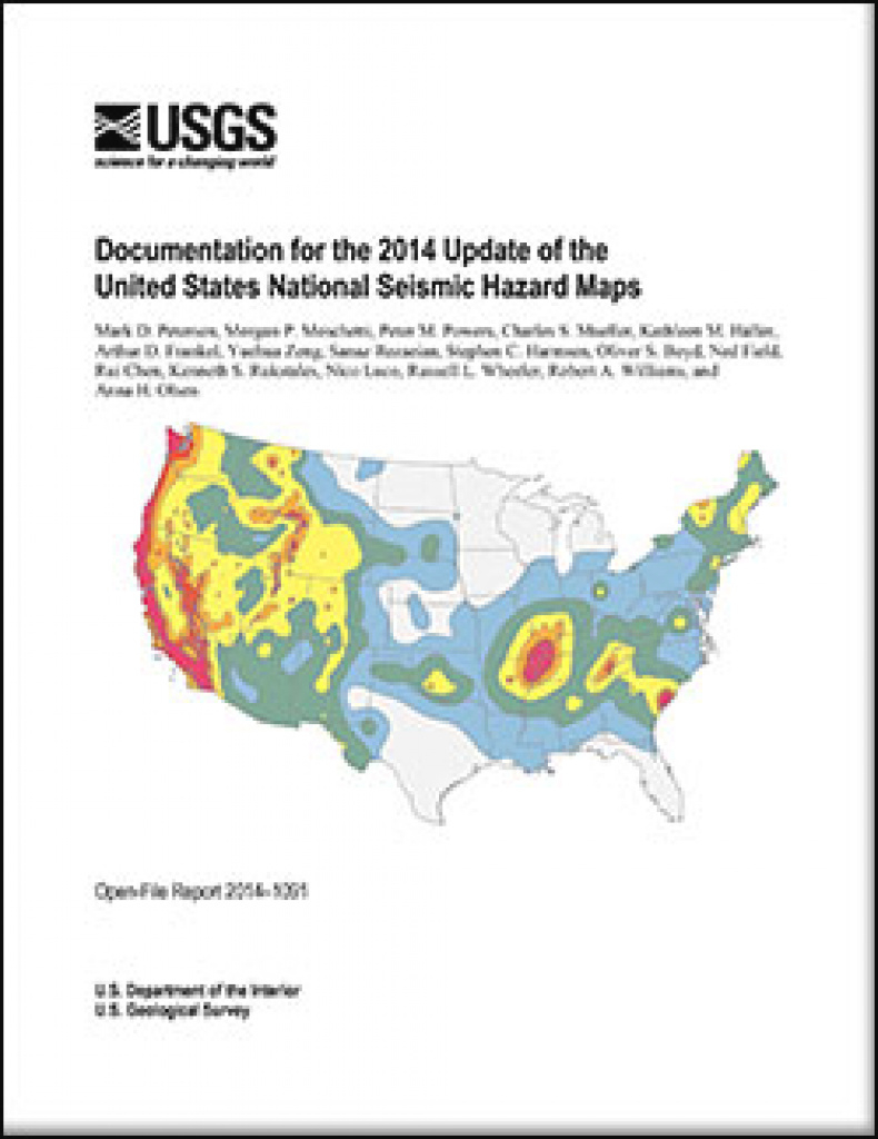 Usgs Open-File Report 2014–1091: Documentation For The 2014 Update throughout Usgs Earthquake Map Washington State