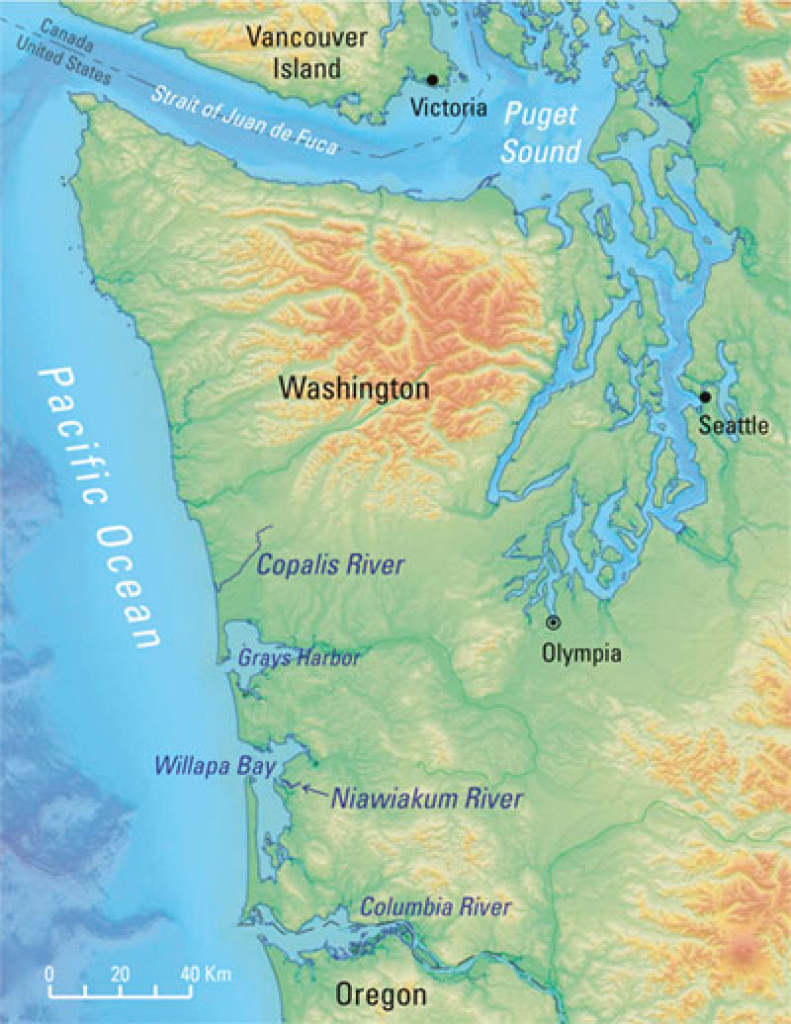 Usgs Scientist Shows Evidence For 300-Year-Old Tsunami To with Washington State Tsunami Map