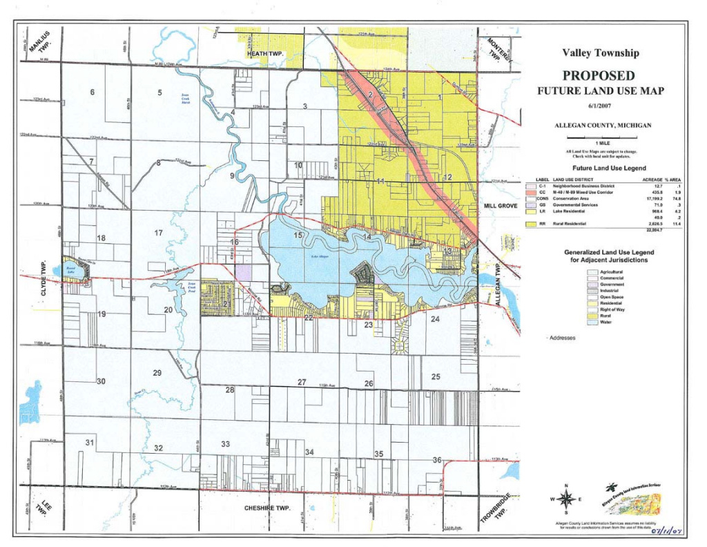 Valley Township Master Plan Maps for Allegan State Game Area Trail Map