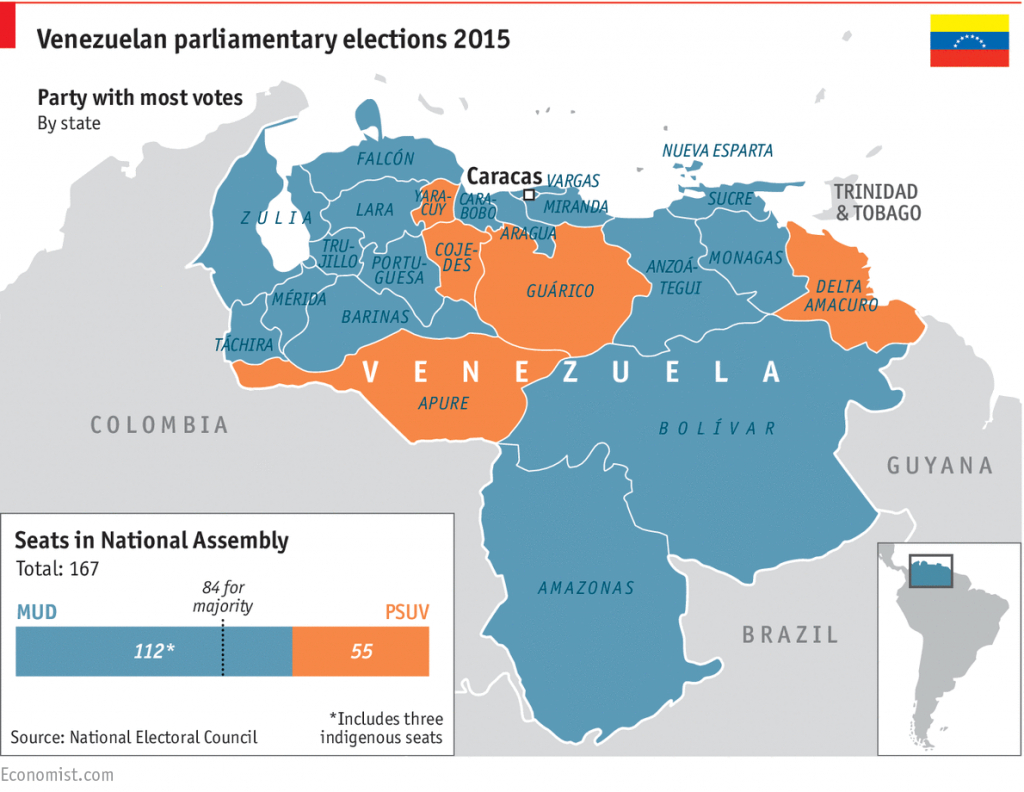 Venezuela: A Nation In A State - In Graphics: A Political And regarding Map Of Venezuela States And Cities
