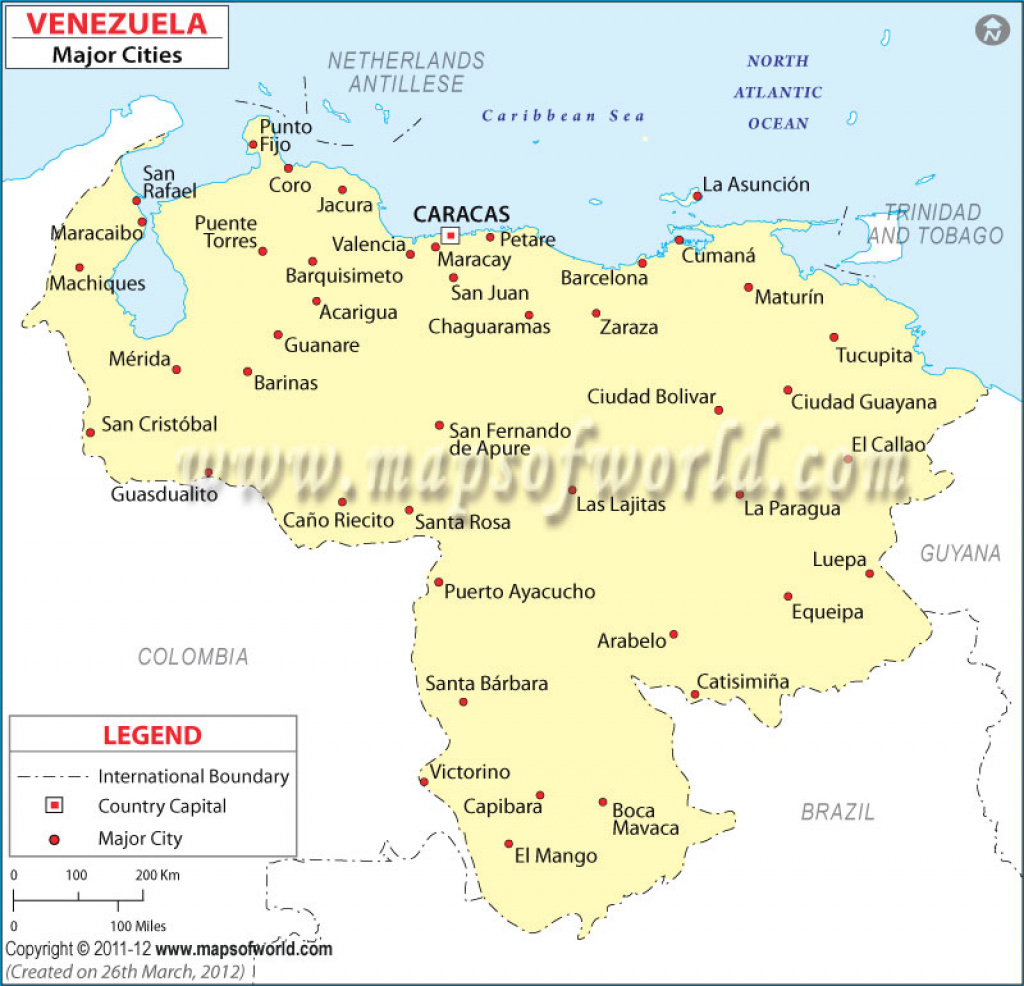 Venezuela Cities Map, Major Cities In Venezuela with regard to Map Of Venezuela States And Cities